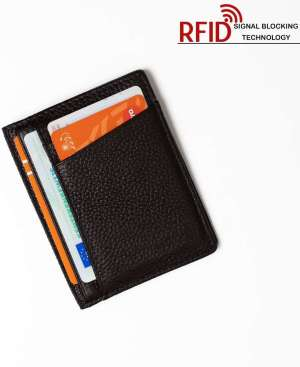 RFID Stijlvolle ID Houder / Pasjeshouder Portemonnee Leer Bruin