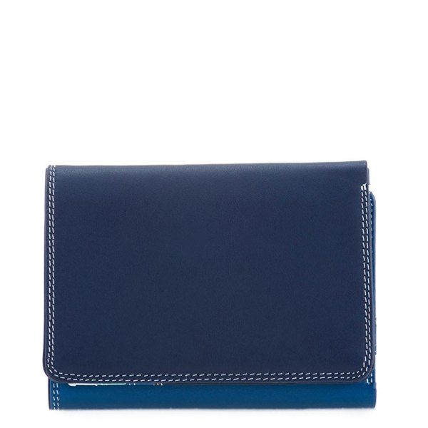 Mywalit Medium Tri-Fold Wallet Portemonnee Denim