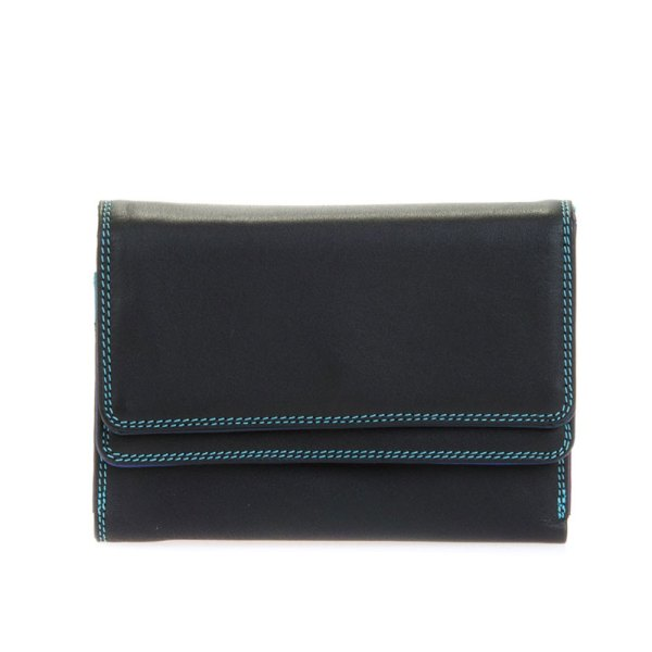 Mywalit Double Flap Purse Portemonnee Black/ Pace