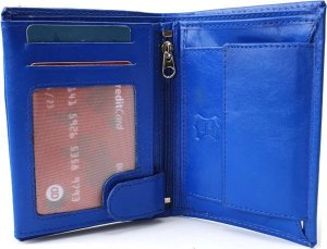 Compattimo Herenportemonnee staand Unisex Portefeuille Blauw