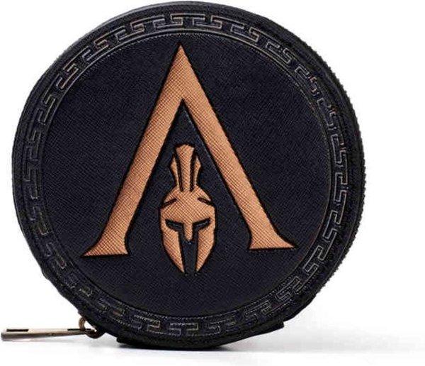 Assassins Creed Portemonnee Greek Helmet Logo Zwart