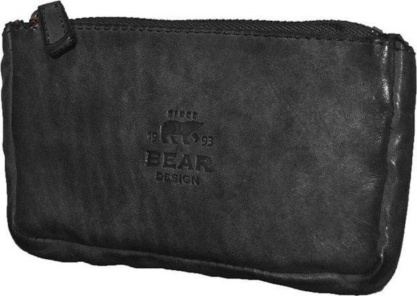 Bear Design Sleuteletuis Cow Lavato Leer - zwart