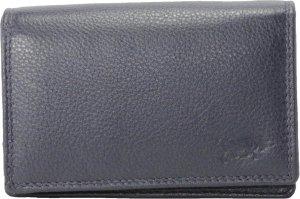 Compacte Leren Dames Portemonnee Donkerblauw RFID - Ideale Dames Portemonnee Anti Skim Donkerblauw Leer