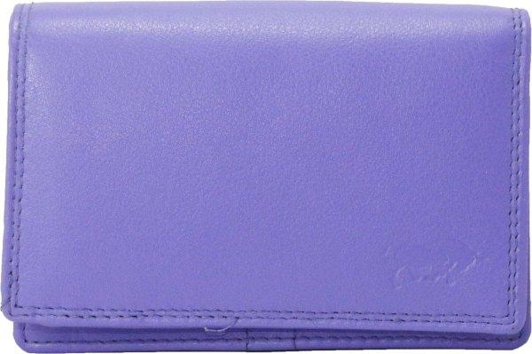 Compacte Leren Dames Portemonnee Paars RFID - Ideale Dames Portemonnee Anti Skim Paars Leer