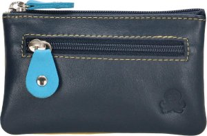 Happy Wallet - LeonDesign - Compacte Sleutetui - RFID - blauw - multicolor - leer