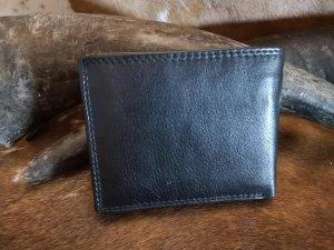 Heren Portemonnee met RFID Protection van Buffelleder Model Midden Zwart