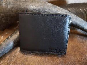 Heren Portemonnee met RFID Protection van runderleer Type Zwart