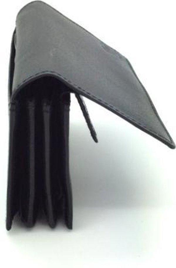 Kleine portemonnee leder zwart 29259