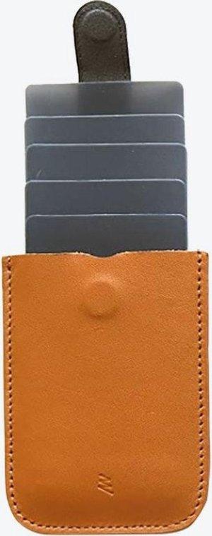 Lederen DAX uitschuifbare creditcardhouder - cardprotector - kaarthouder - pasjeshouder portemonnee - Bruin Leer