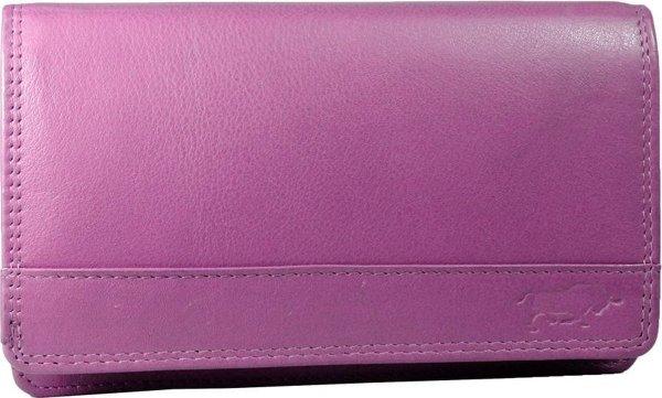 Leren Damesportemonnee Roze RFID - Lederen Dames Portemonnee - Harmonica Model