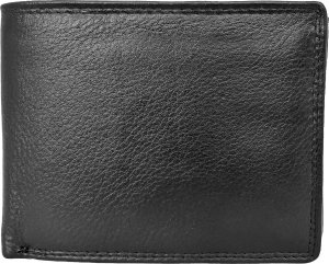 Lundholm Luxe portemonnee heren leer - portefeuille heren leer zwart - top kwaliteit leder - cadeau voor man
