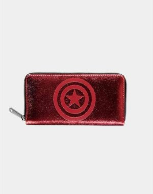 Marvel Captain America Dames portemonnee Shield Rood