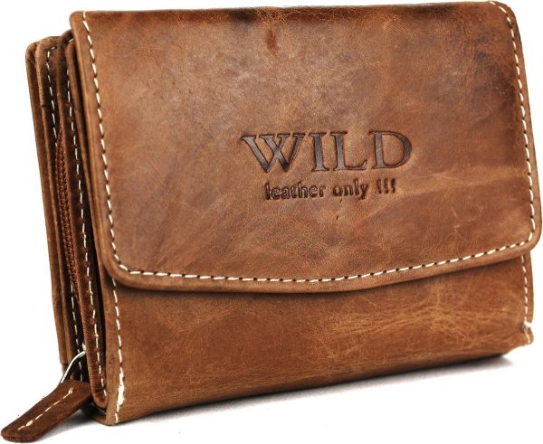 Massi Miliano Wild Dames Portemonnee - 12x9 cm - Bruin
