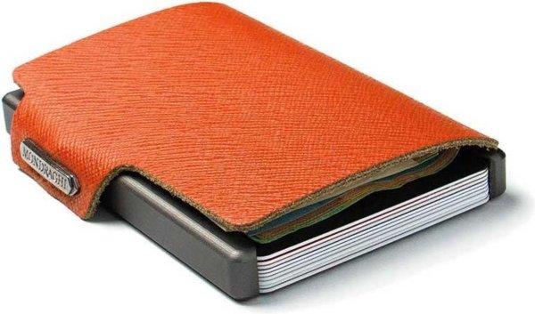 Mondraghi RFID Wallet Saffiano Oranje