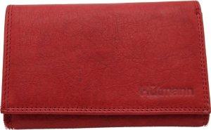 Nuba - Dames portemonnee - 100% Leer - Compact maar veel plek - rits aan de achterkant - Dames cadeau - Rood