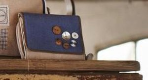 Portemonnee Natural - Blauw - Stapelgoed