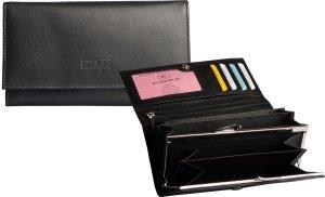 Prego Basic Dames Portemonnee met Knip Zwart 98112