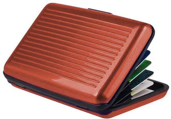 Premium Lichtgewicht Alu Wallet Portemonnee Pashouder Bruin - 8x10cm | Portemonnees | Anti-Skimming | Creditcardhouder | Geldknip | Pasjeshouder