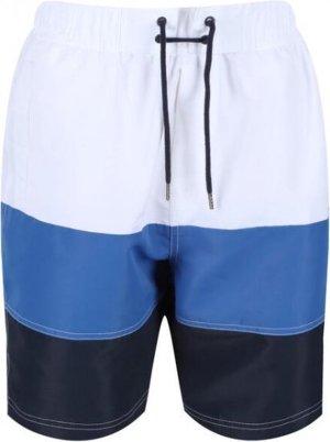 Regatta Zwembroek Bratchmar Vi Heren Polyester Wit/blauw Maat L