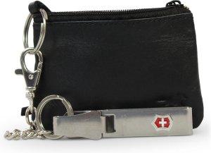 Safekeepers Sleuteletui met clip - Echt leer - Zwart