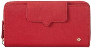 Samsonite Miss Journey SLG zipper Wallet 18CC Scarlet Red