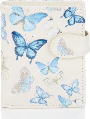Shagwear Portemonnee - Compact Beugelportemonnee - Dames - Kunstleer -Butterfly (009845sm)