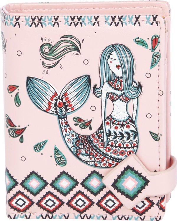 Shagwear Portemonnee - Compact Beugelportemonnee - Dames - Kunstleer - Mermaid Garden (009860sm)