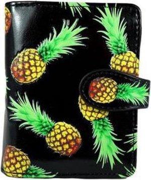 Shagwear Portemonnee - Compact Beugelportemonnee - Dames - Kunstleer - Pineapple (0270sm)