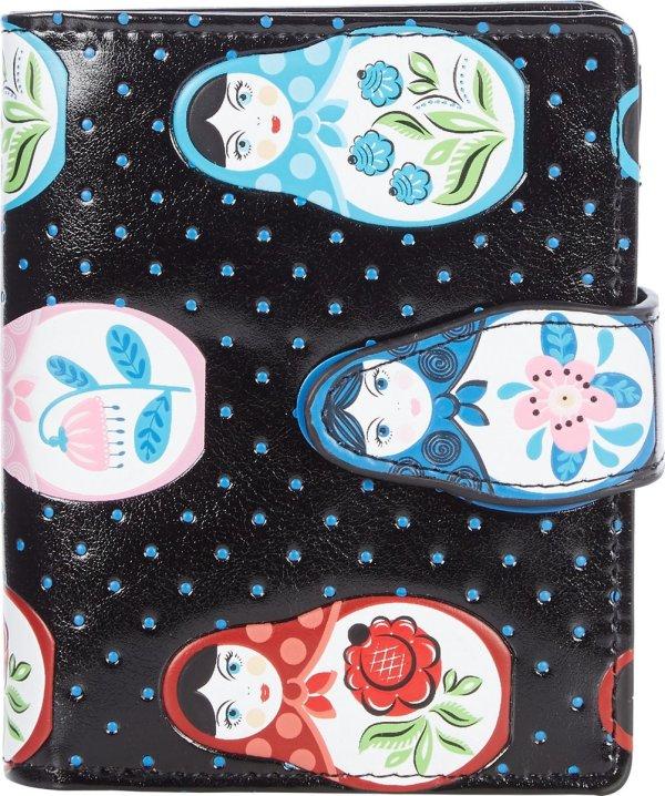 Shagwear Portemonnee - Compact Beugelportemonnee - Dames - Kunstleer - Russian Dolls (009969sm)