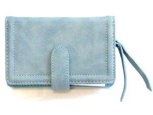 Ultimate Travelstyle - dames ritsportemonnee - kunstleer - blauw - 13.5 x 9 x 2.5 cm