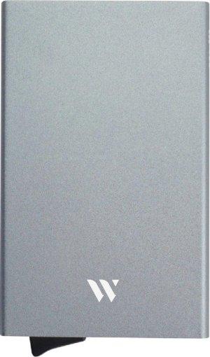 Wallix® Pasjeshouder - Aluminium - Uitschuifbaar - Unisex Creditcardhouder - RFID & NFC Beveiliging - Grijs