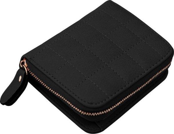 ZILOU® Compacte Ritsportemonnee - Mini Wallet - Kunstleer - Zwart