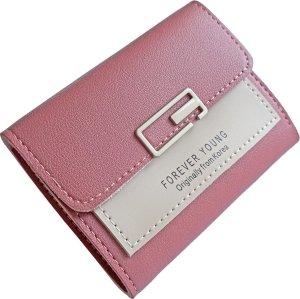 ZILOU® Portemonnee - Compact - Mini Wallet - Elegant - Dames - Kunstleer - Roze
