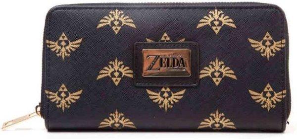 Zelda - Hyrule dames portemonnee met all over print zwart