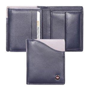 Zoom Wallet Billfold RFID Donker Blauw/Grijs