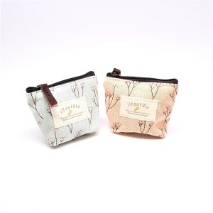 2 stuks Kleine Portemonnee - Katoen Kleine geld portemonnee - Dames portemonnee - Life Style