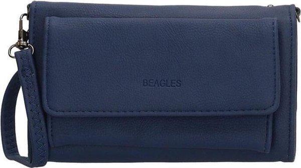 Beagles Dames Schoudertasje / Portemonnee Barcelona Navy Blauw