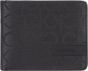 Calvin Klein - Industrial mono RFID Bifold 6CC w/bill - portemonnee heren - black mono