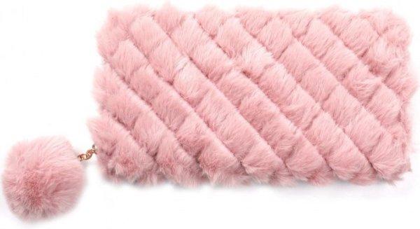 Damesdingetjes - Portemonnee - Fluffy, roze - Met ritssluiting met pompom.