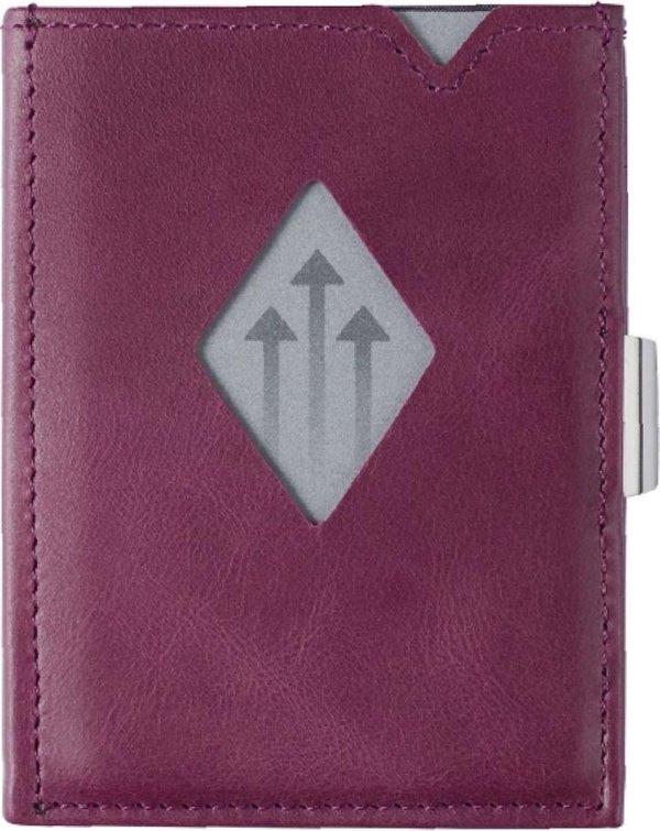 Exentri wallet RFID portemonnee Paars Leer