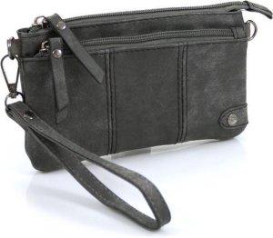 Handige portemonnee - tasje grijs met voorvak
