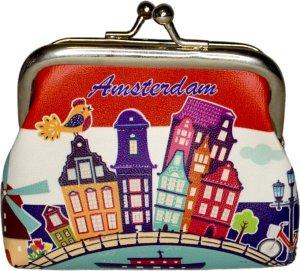 Kleine knip portemonnee/beugelportemonnee - Amsterdam grachten