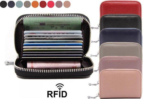 Mini Dames Portemonnee met Anti Skim - Lichtblauw - Bescherming tegen Elektronisch Diefstal