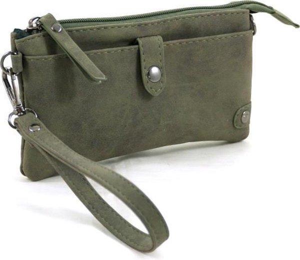 Portemonnee - tasje groen met handige vakken