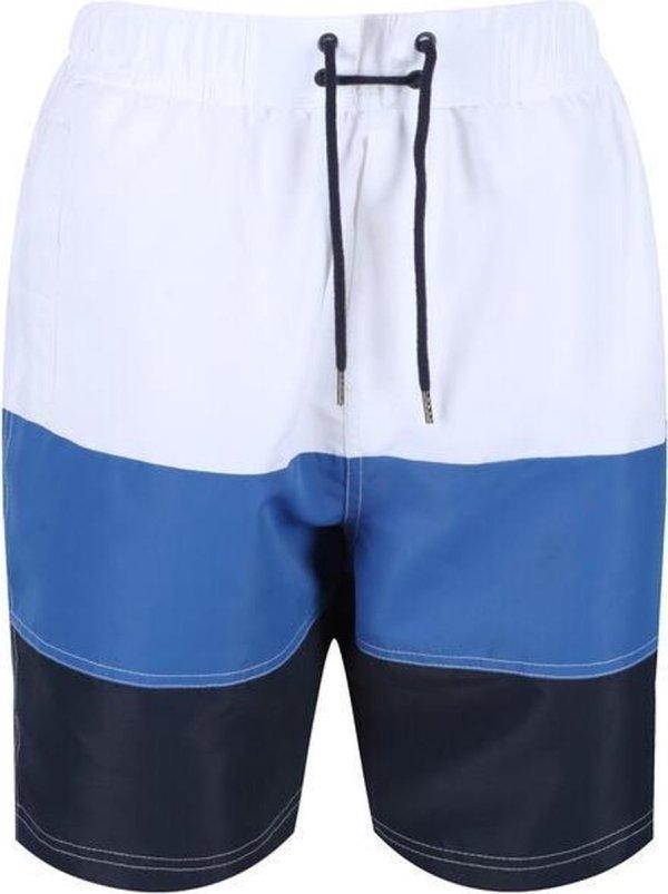Regatta Zwembroek Bratchmar Vi Heren Polyester Wit/blauw Maat Xl