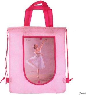 Roze Ballet Tasje - Rugzakje met Ballerina - Opvouwbare Portemonnee - Meisjes - Versie B