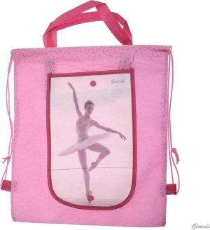Roze Ballet Tasje - Rugzakje met Ballerina - Opvouwbare Portemonnee - Meisjes - Versie C