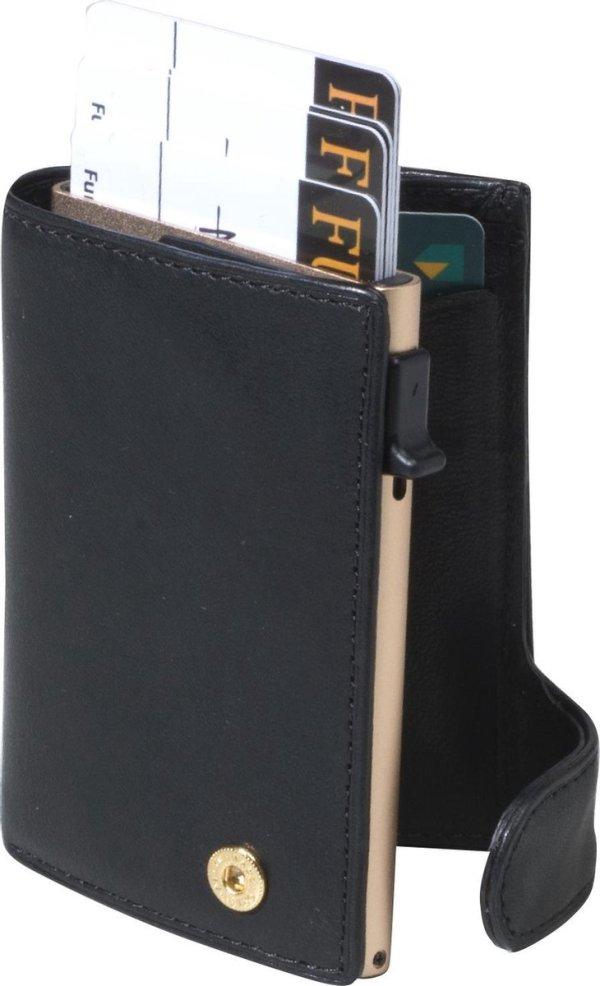 Tony Perotti Furbo RFID Creditcardhouder met papier- en kleingeldvak - Zwart