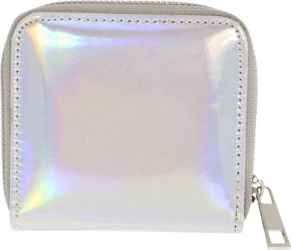 Zilverkleurige portemonnee met glans