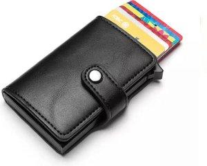 Leren Pasjeshouder | RFID | Creditcardhouder | Carbon Zwart | Zwart-Card Protector | Leer